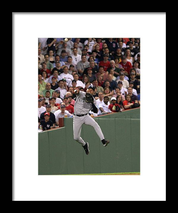 People Framed Print featuring the photograph Derek Parks by Jim Rogash