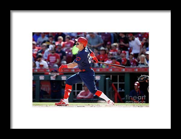 Great American Ball Park Framed Print featuring the photograph Derek Parks by Joe Robbins