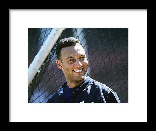 People Framed Print featuring the photograph Derek Parks by Ronald C. Modra/sports Imagery