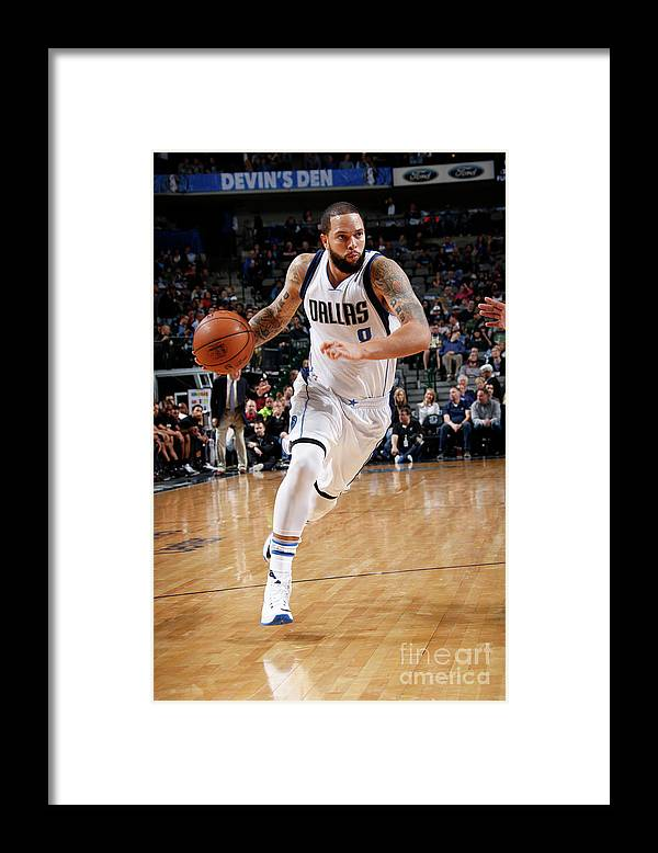 Nba Pro Basketball Framed Print featuring the photograph Deron Williams by Glenn James