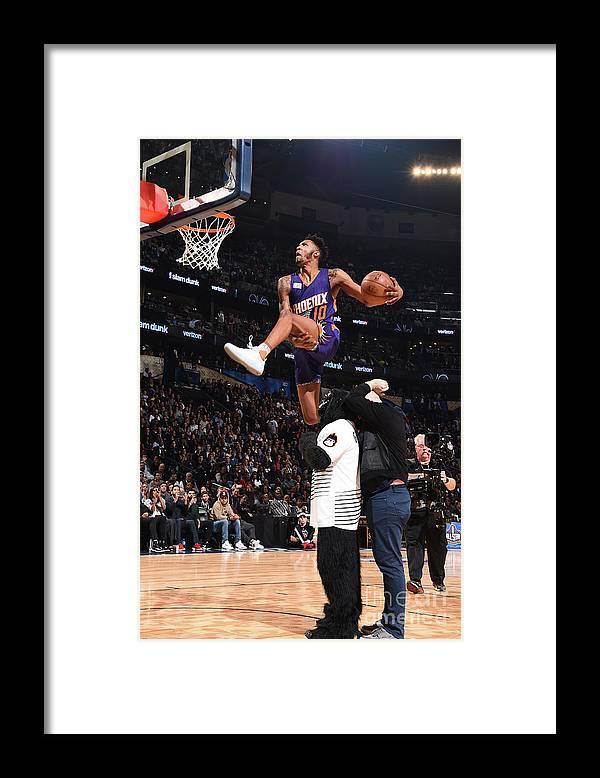 Event Framed Print featuring the photograph Derrick Jones by Andrew D. Bernstein