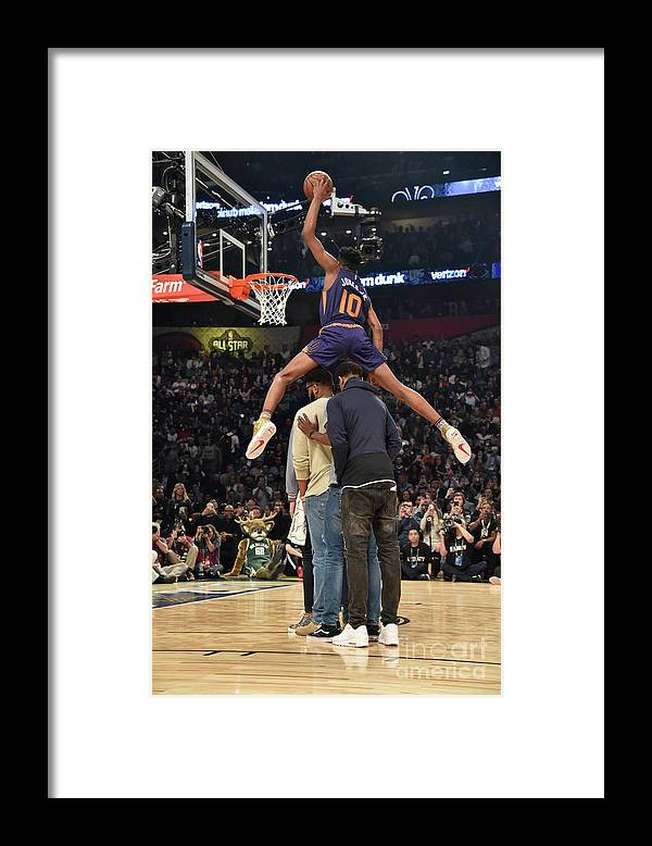 Event Framed Print featuring the photograph Derrick Jones by Bill Baptist