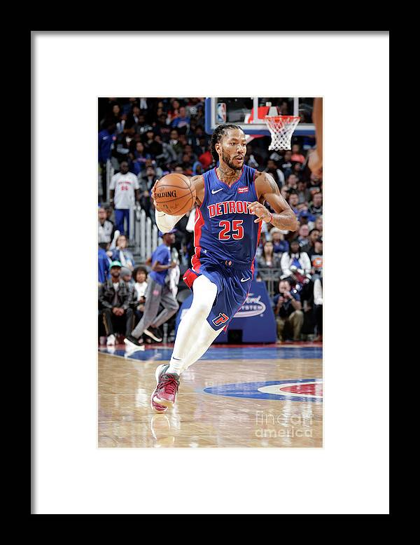 Nba Pro Basketball Framed Print featuring the photograph Derrick Rose by Brian Sevald