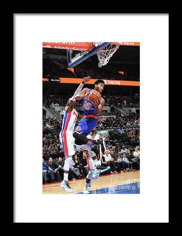 Nba Pro Basketball Framed Print featuring the photograph Derrick Rose by Chris Schwegler