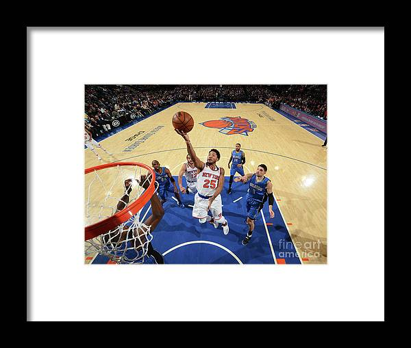 Nba Pro Basketball Framed Print featuring the photograph Derrick Rose by Jesse D. Garrabrant