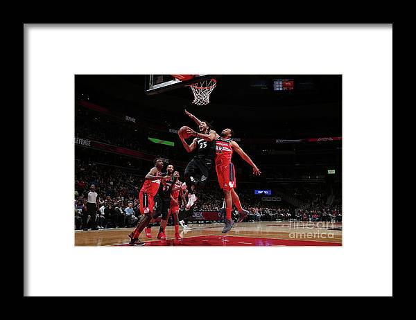 Nba Pro Basketball Framed Print featuring the photograph Derrick Rose by Ned Dishman