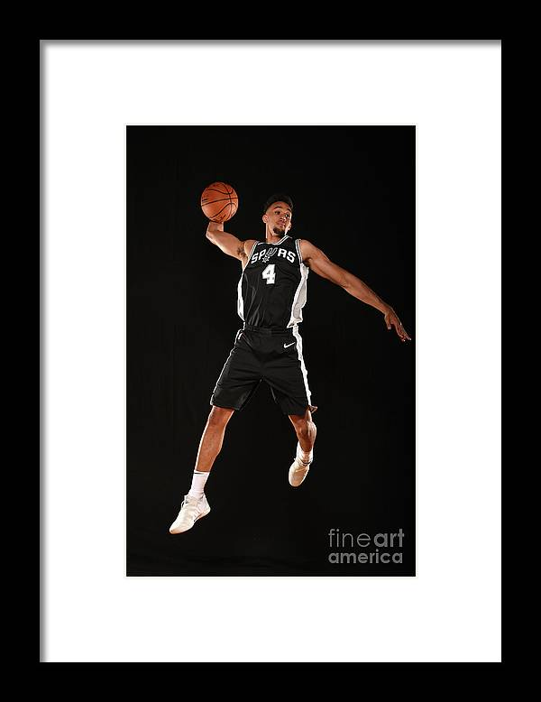 Nba Pro Basketball Framed Print featuring the photograph Derrick White by Brian Babineau
