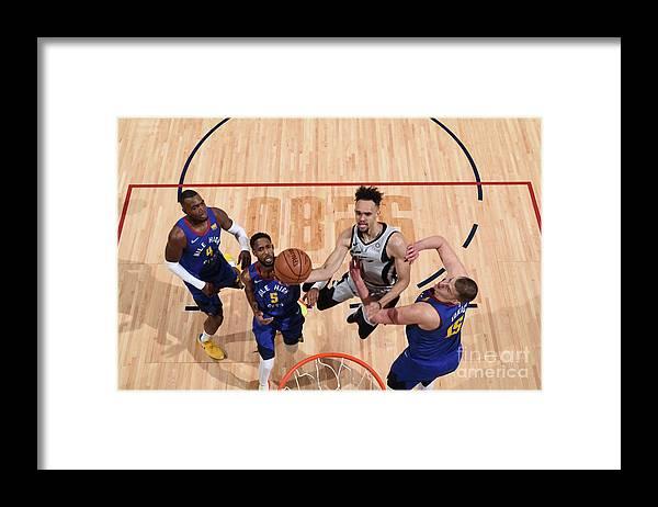 Nba Pro Basketball Framed Print featuring the photograph Derrick White by Garrett Ellwood