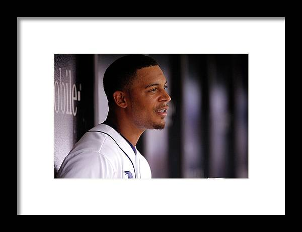 Second Inning Framed Print featuring the photograph Desmond Jennings by Brian Blanco