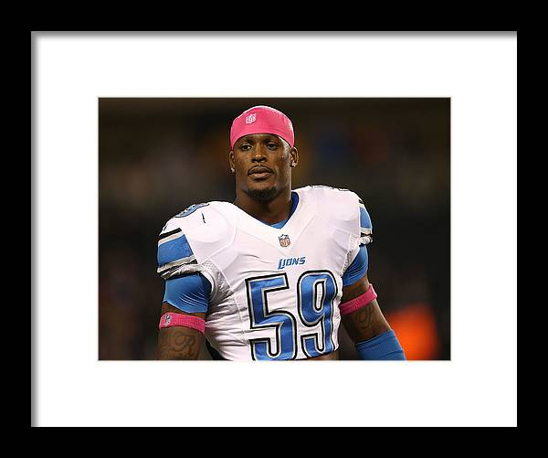 People Framed Print featuring the photograph Detroit Lions v Chicago Bears by Leon Halip