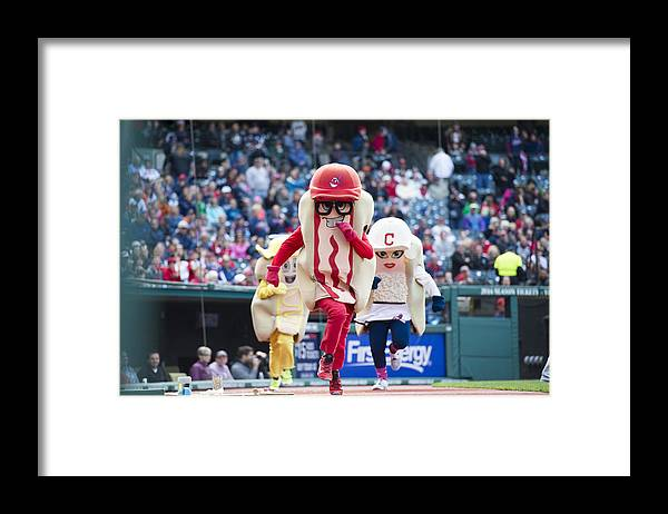 American League Baseball Framed Print featuring the photograph Detroit Tigers v Cleveland Indians by Jason Miller