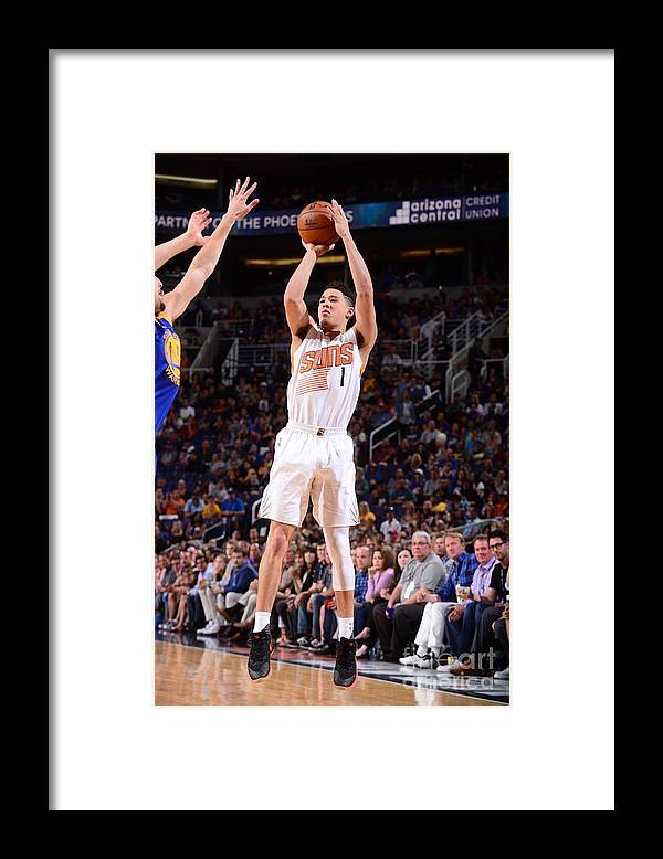 Nba Pro Basketball Framed Print featuring the photograph Devin Booker by Barry Gossage