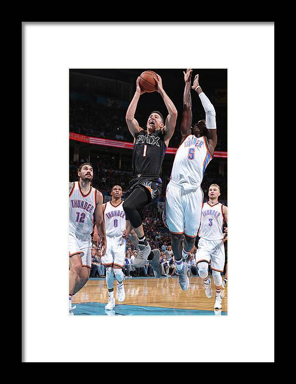 Nba Pro Basketball Framed Print featuring the photograph Devin Booker by Joe Murphy