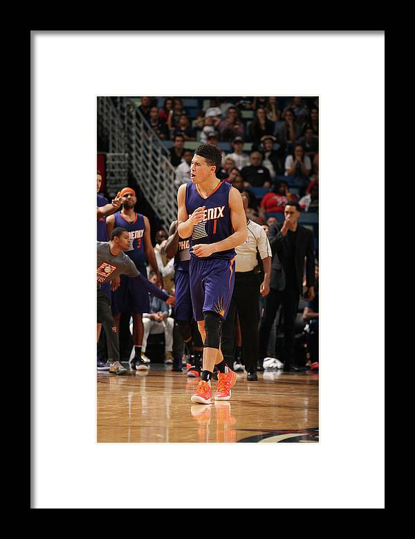 Smoothie King Center Framed Print featuring the photograph Devin Booker by Layne Murdoch