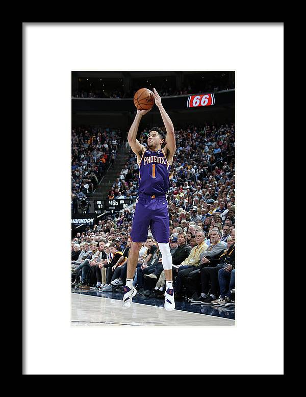 Nba Pro Basketball Framed Print featuring the photograph Devin Booker by Melissa Majchrzak