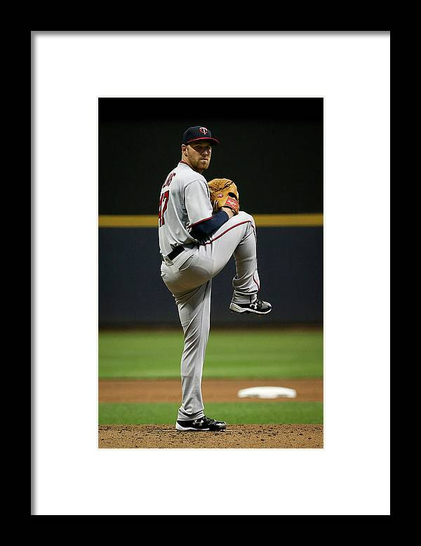 Second Inning Framed Print featuring the photograph Dietrich Enns by Dylan Buell