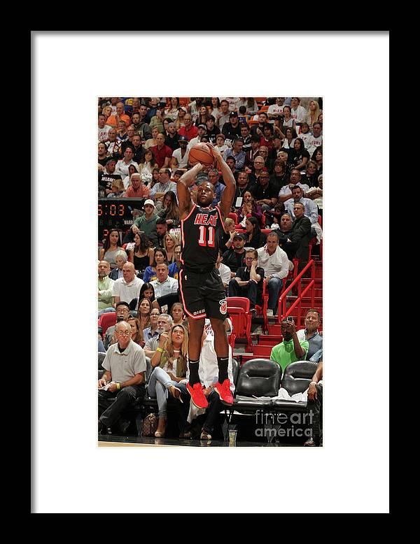 Nba Pro Basketball Framed Print featuring the photograph Dion Waiters by Oscar Baldizon