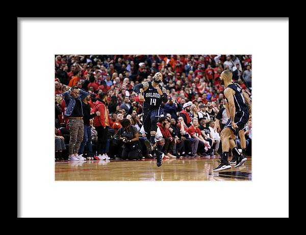 Playoffs Framed Print featuring the photograph D.j. Augustin by David Sherman
