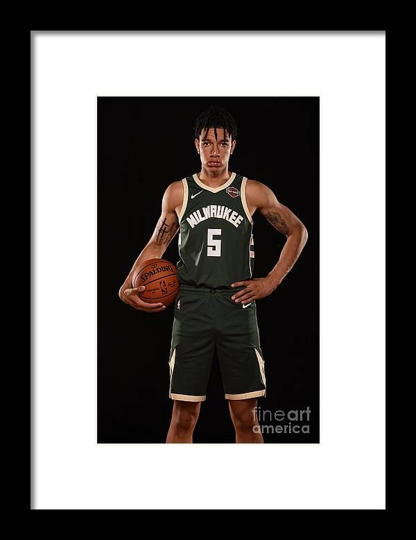 Nba Pro Basketball Framed Print featuring the photograph D.j. Wilson by Brian Babineau