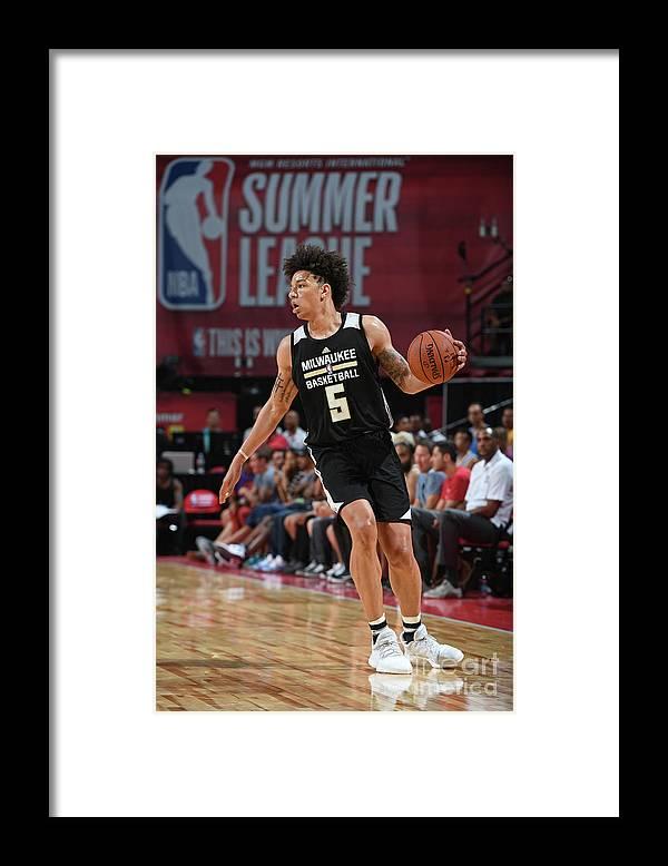 Nba Pro Basketball Framed Print featuring the photograph D.j. Wilson by Garrett Ellwood