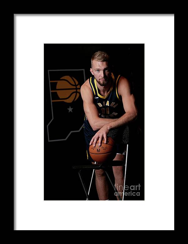 Media Day Framed Print featuring the photograph Domantas Sabonis by Ron Hoskins