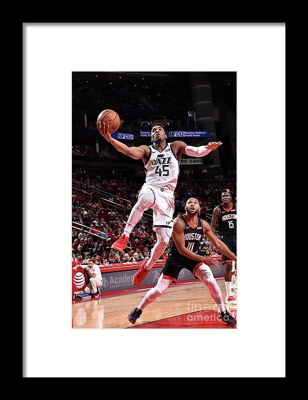 Nba Pro Basketball Framed Print featuring the photograph Donovan Mitchell by Bill Baptist
