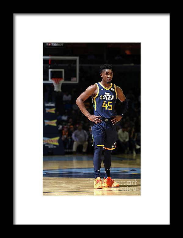 Nba Pro Basketball Framed Print featuring the photograph Donovan Mitchell by Joe Murphy