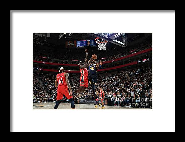 Nba Pro Basketball Framed Print featuring the photograph Donovan Mitchell by Noah Graham