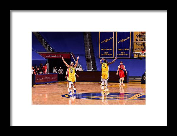 San Francisco Framed Print featuring the photograph Draymond Green and Stephen Curry by Noah Graham