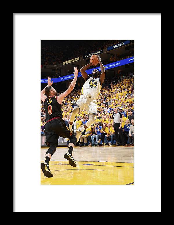 Playoffs Framed Print featuring the photograph Draymond Green by Andrew D. Bernstein