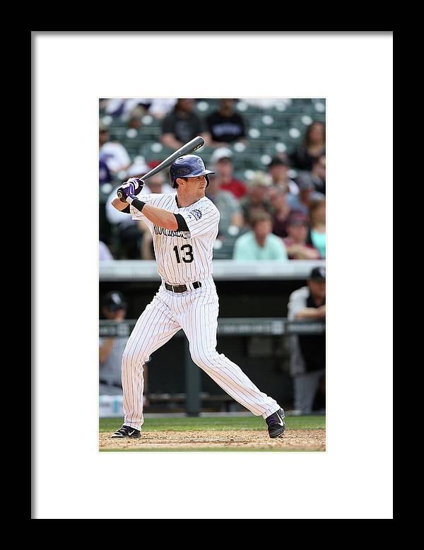 American League Baseball Framed Print featuring the photograph Drew Stubbs by Doug Pensinger