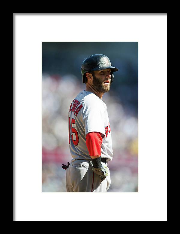 East Framed Print featuring the photograph Dustin Pedroia by Rob Tringali