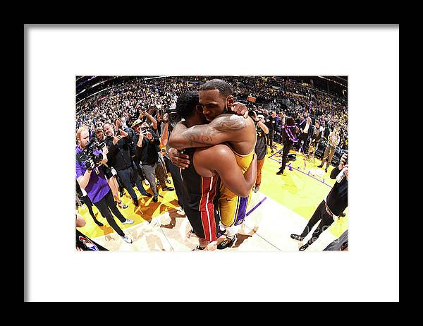 Nba Pro Basketball Framed Print featuring the photograph Dwyane Wade and Lebron James by Andrew D. Bernstein