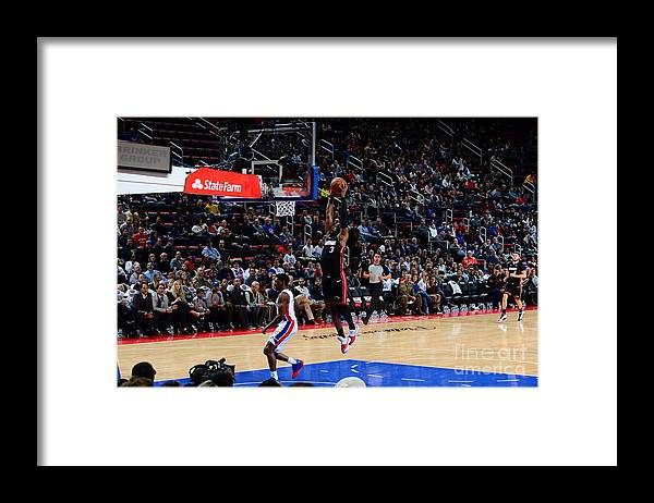 Nba Pro Basketball Framed Print featuring the photograph Dwyane Wade by Chris Schwegler
