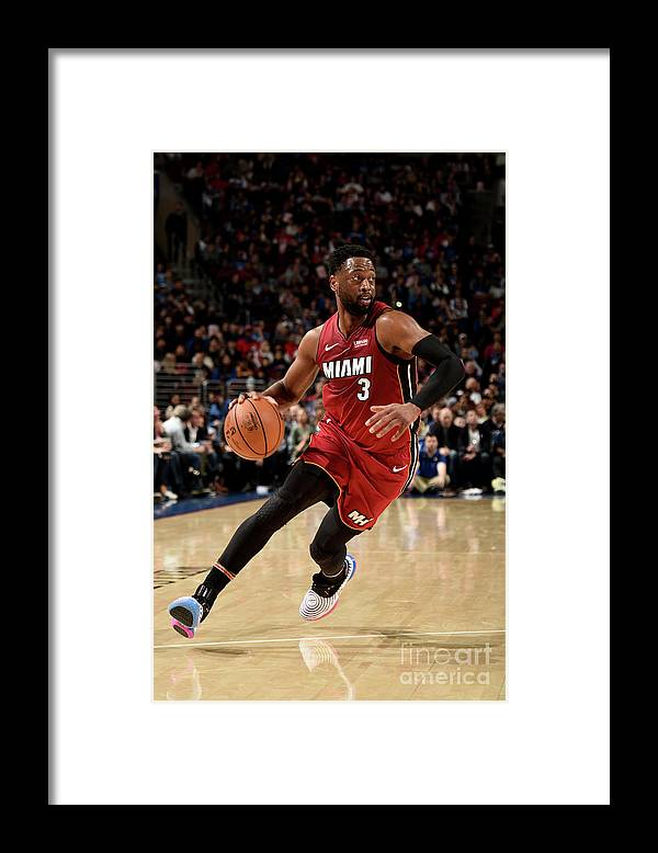 Nba Pro Basketball Framed Print featuring the photograph Dwyane Wade by David Dow
