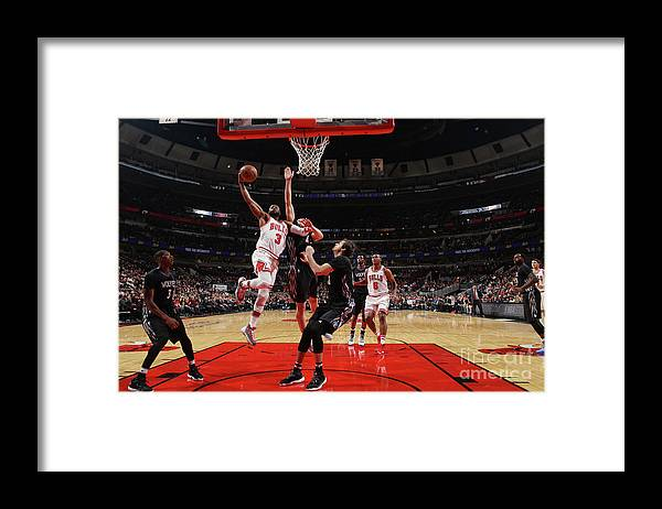 Nba Pro Basketball Framed Print featuring the photograph Dwyane Wade by Gary Dineen