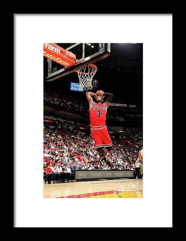 Nba Pro Basketball Framed Print featuring the photograph Dwyane Wade by Joe Murphy