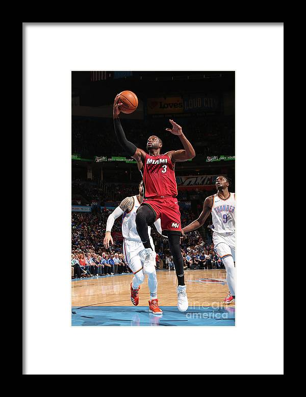 Drive Framed Print featuring the photograph Dwyane Wade by Layne Murdoch