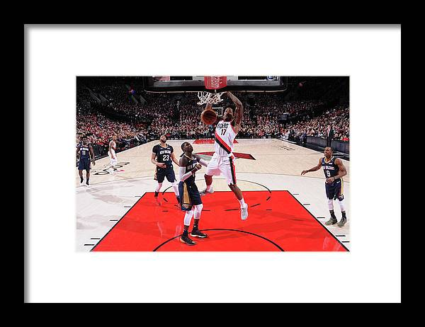 Playoffs Framed Print featuring the photograph Ed Davis by Sam Forencich
