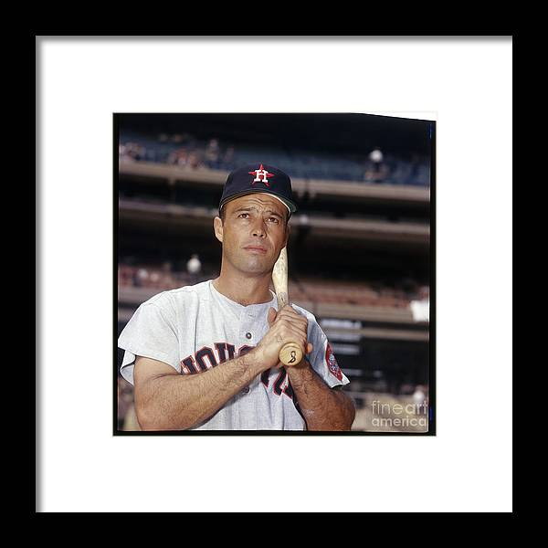 National League Baseball Framed Print featuring the photograph Eddie Mathews by Louis Requena
