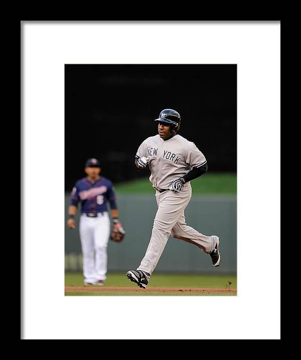 American League Baseball Framed Print featuring the photograph Eduardo Escobar by Hannah Foslien