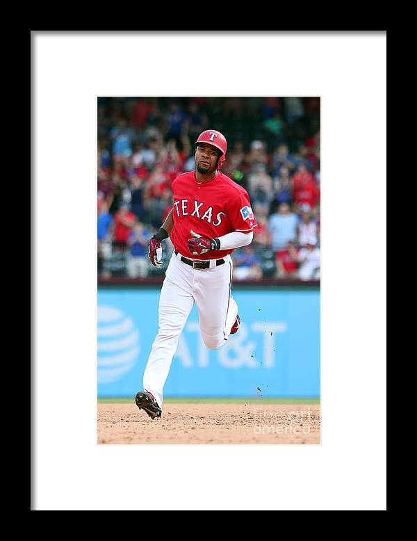 People Framed Print featuring the photograph Elvis Andrus by Richard Rodriguez