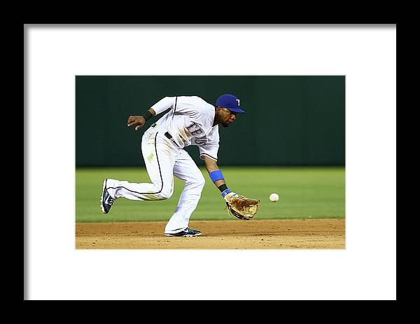 People Framed Print featuring the photograph Elvis Andrus by Sarah Crabill