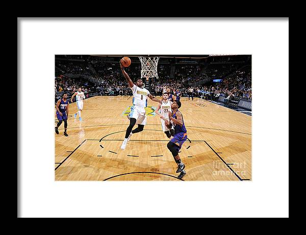 Nba Pro Basketball Framed Print featuring the photograph Emmanuel Mudiay by Garrett Ellwood