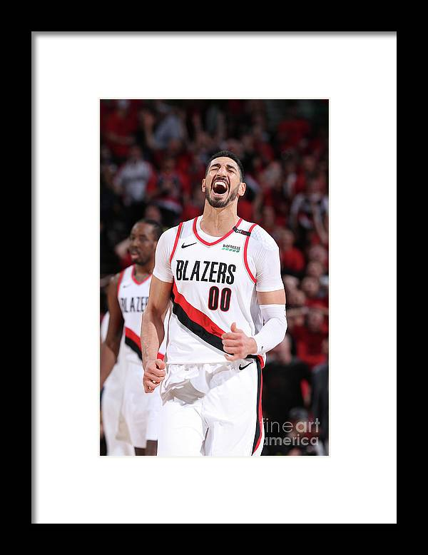 Playoffs Framed Print featuring the photograph Enes Kanter by Sam Forencich