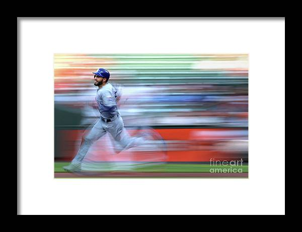 People Framed Print featuring the photograph Eric Hosmer by Patrick Smith