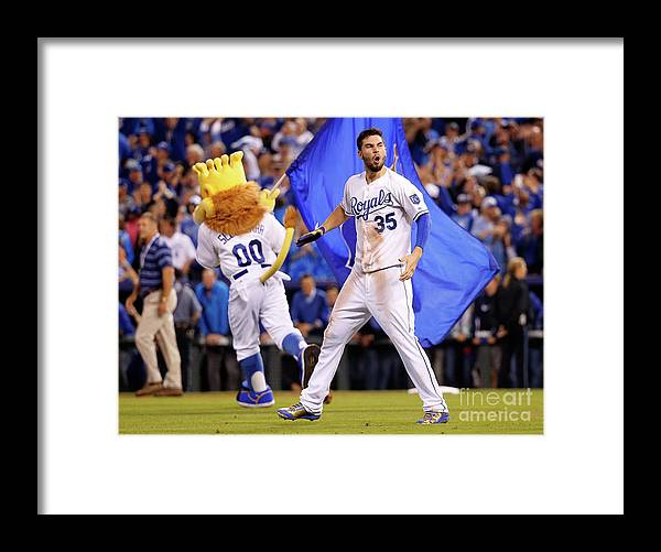 People Framed Print featuring the photograph Eric Hosmer by Rob Carr