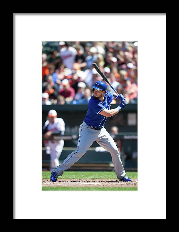 American League Baseball Framed Print featuring the photograph Eric Hosmer by Rob Tringali