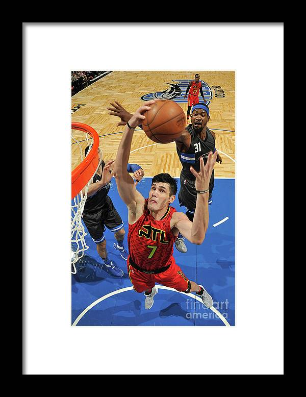 Nba Pro Basketball Framed Print featuring the photograph Ersan Ilyasova by Fernando Medina