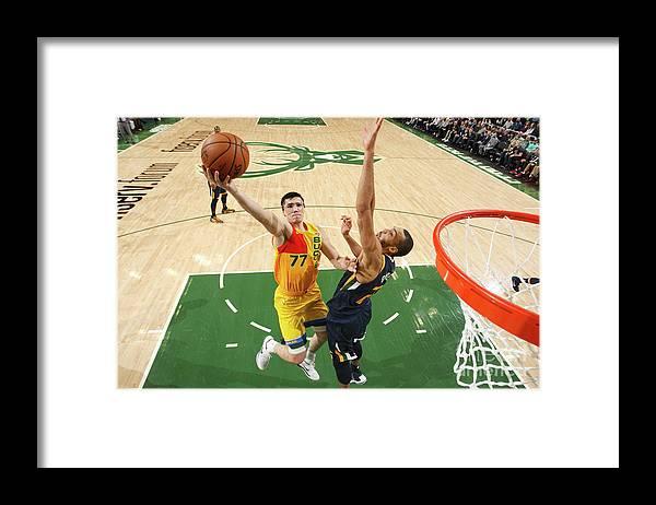 Nba Pro Basketball Framed Print featuring the photograph Ersan Ilyasova by Gary Dineen